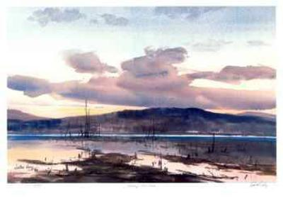 Evening - Loon lake-John Joy-Collectable Print