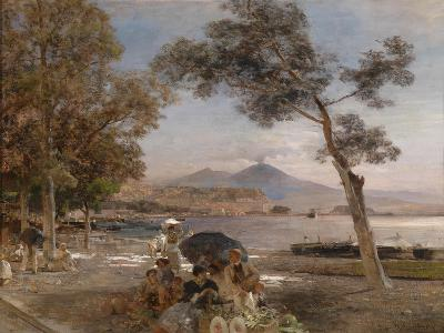 Evening Mood at the Bay of Naples, 1888-Oswald Achenbach-Giclee Print