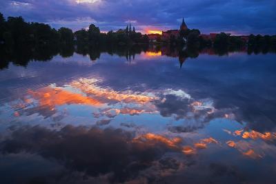 Evening Mood at the M?llner Schulsee Lake-Thomas Ebelt-Photographic Print