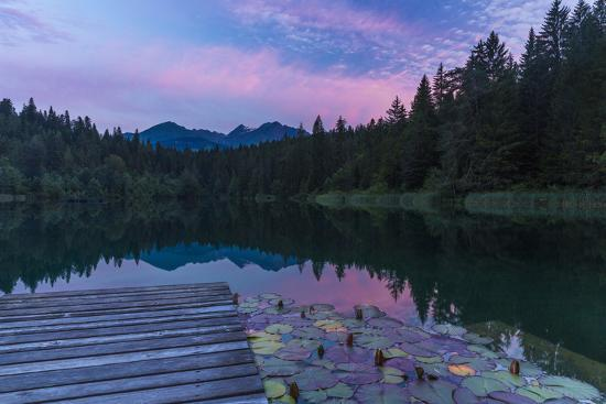 Evening Mood in the Crestasee at Flims-Armin Mathis-Photographic Print