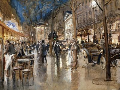 Evening on a Parisian Boulevard-Stein Georges-Giclee Print