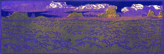 Evening On The Desert-Frank Redlinger-Art Print
