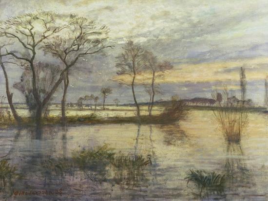Evening on the river Wümme. 1938-Otto Modersohn-Giclee Print