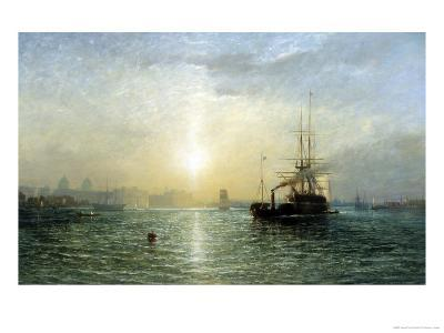 Evening on the Thames-Francis Danby-Giclee Print