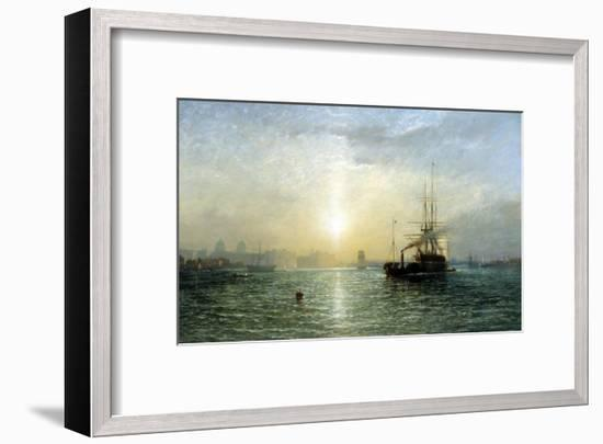 Evening on the Thames-Francis Danby-Framed Giclee Print