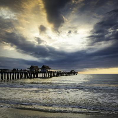 Evening over the Naples Pier and Gulf of Mexico, Naples, Florida, Usa-Brian Jannsen-Photographic Print