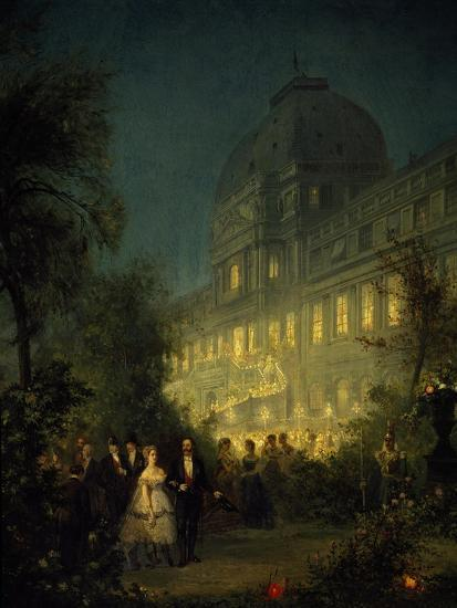 Evening Party at Tuileries During Second Empire--Giclee Print
