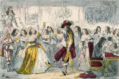 Evening Party, Time of Charles II-John Leech-Giclee Print