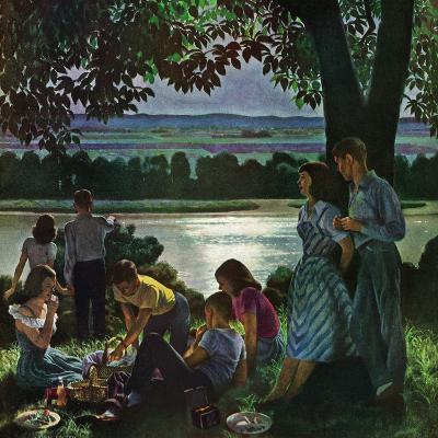 """Evening Picnic,"" June 4, 1949-John Falter-Giclee Print"