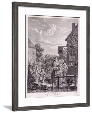 Evening, Plate III from Times of Day, 1738-Bernard Baron-Framed Giclee Print