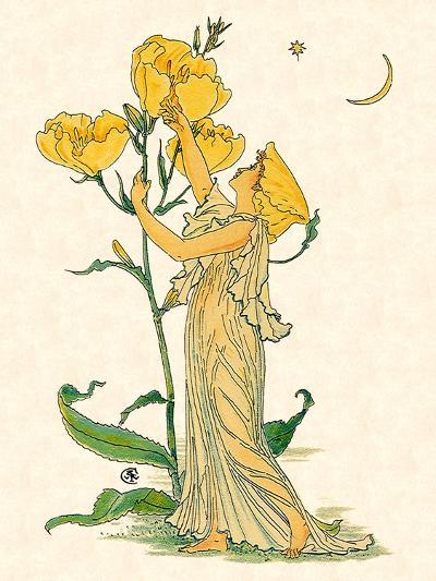 Evening Primrose Nymph, 1889-Walter Crane-Giclee Print