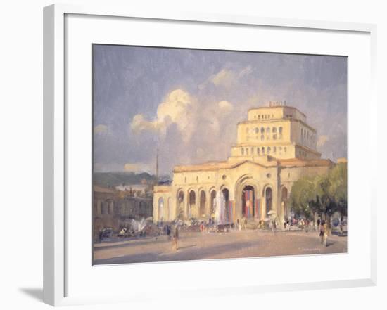Evening, Republic Square, Yerevan-Trevor Chamberlain-Framed Giclee Print