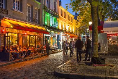 Evening Scene in Place Du Tertre, Montmartre, Paris, France-Brian Jannsen-Photographic Print