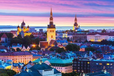 Evening Scenery of Tallinn, Estonia-Scanrail-Photographic Print