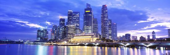 Evening, Singapore--Photographic Print