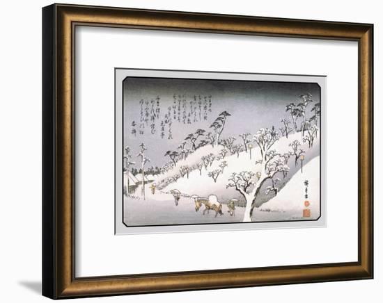 Evening Snow in Asakusa-Ando Hiroshige-Framed Art Print