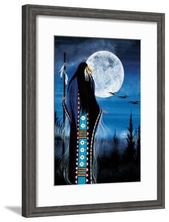 Evening Star Woman-Betty Albert-Framed Art Print