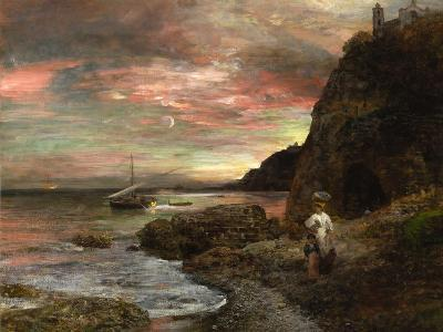 Evening Sun at Posillipo-Oswald Achenbach-Giclee Print