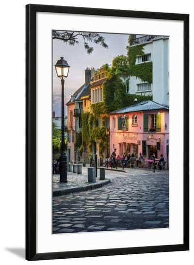 Evening Sunlight on La Maison Rose in Montmartre, Paris, France-Brian Jannsen-Framed Photographic Print