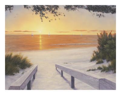 Evening Sunset-Diane Romanello-Art Print