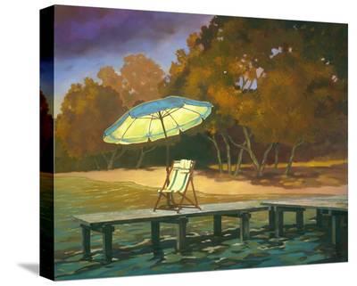 Evening Swim I--Stretched Canvas Print