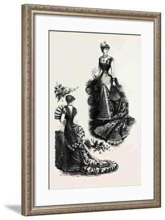 Evening Toilettes for Dinners and Balls, Fashion, 1882--Framed Giclee Print