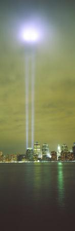 Evening, Towers of Light, Lower Manhattan, New York City, New York State, USA