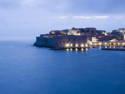 Evening View of Harbour and Waterfront of Dubrovnik Old Town, Dalmatia, Croatia, Adriatic, Europe-Martin Child-Photographic Print
