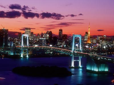 Evening View of Rainbow Bridge--Photographic Print