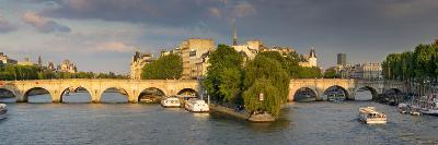 Evening View of River Seine, Paris, France-Brian Jannsen-Photographic Print