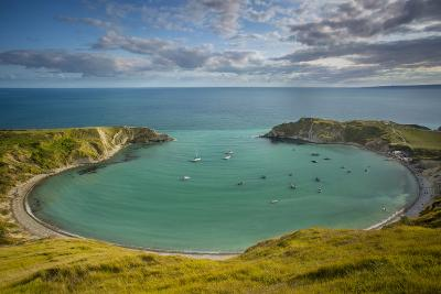 Evening View over Lulworth Cove, Jurassic Coast, Dorset, England-Brian Jannsen-Photographic Print