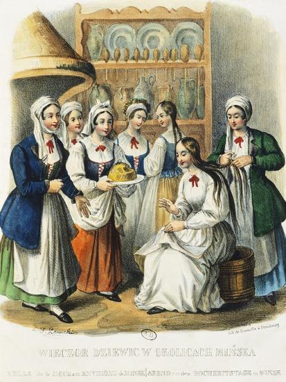 Evening Wedding, Minsk Mazowiecki, 1841, Poland 19th Century--Giclee Print