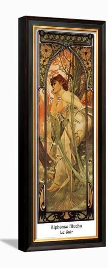 Evening-Alphonse Mucha-Framed Art Print