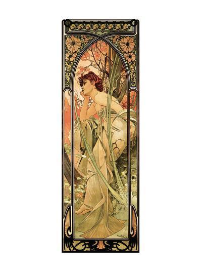 Evening-Alphonse Mucha-Premium Giclee Print
