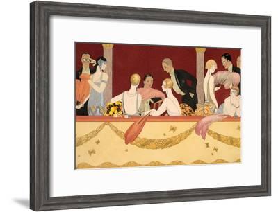 Eventails, 1924-Georges Barbier-Framed Giclee Print