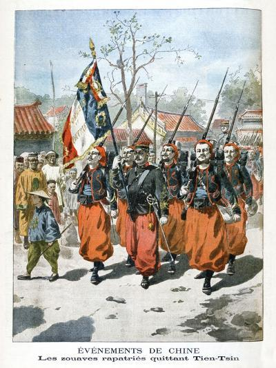 Events in China, French Troops Departing Tien-Tsin, 1901--Giclee Print