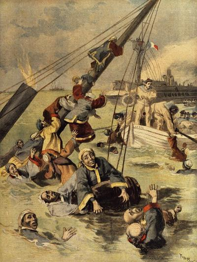 Events in Korea, Chinese Ship Sunk by Japanese, First Sino-Japanese War--Giclee Print