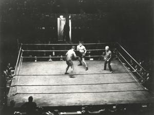 High Angle View of Boxing Match by Everett Collection