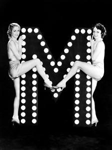 Two Young Women Posing with the Letter M by Everett Collection