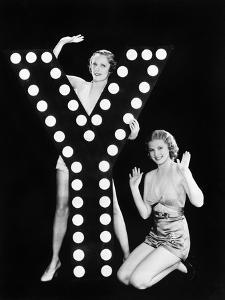 Two Young Women Posing with the Letter Y by Everett Collection