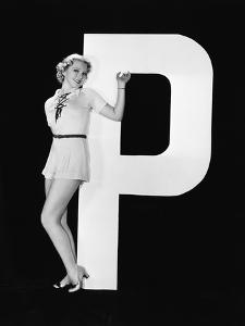 Woman Posing with Huge Letter P by Everett Collection