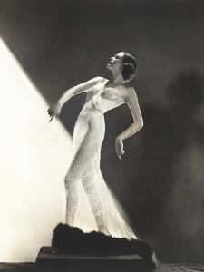 Woman Wearing Sheer Evening Gown by Everett Collection