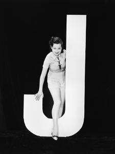 Woman with Huge Letter J by Everett Collection
