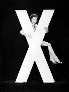 Woman with Huge Letter X by Everett Collection