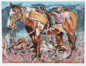 Hunters Horse by Everett Hibbard