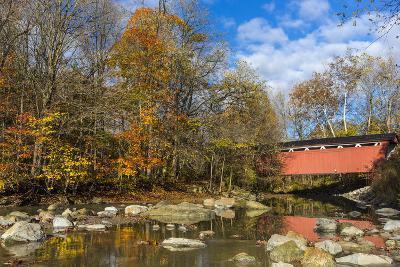 Everett Road Covered Bridge on Furnace Run Cree, Cuyahoga National Park, Ohio-Chuck Haney-Photographic Print