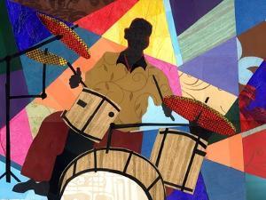 Jazz Drummer by Everett Spruill