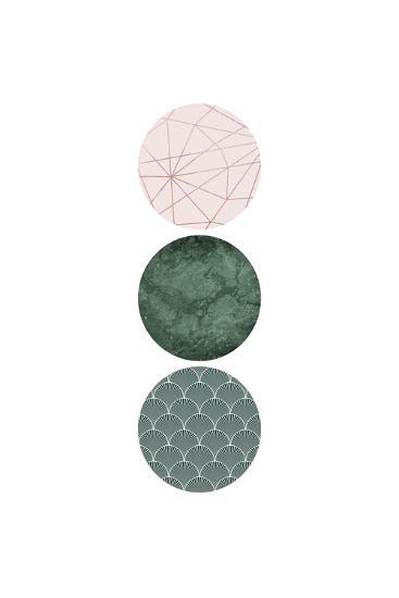 Evergreen Blush Geo 3-Urban Epiphany-Art Print
