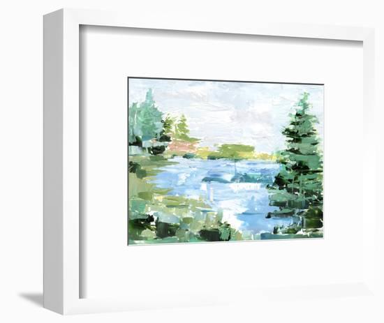 Evergreen Lake II-Ethan Harper-Framed Art Print
