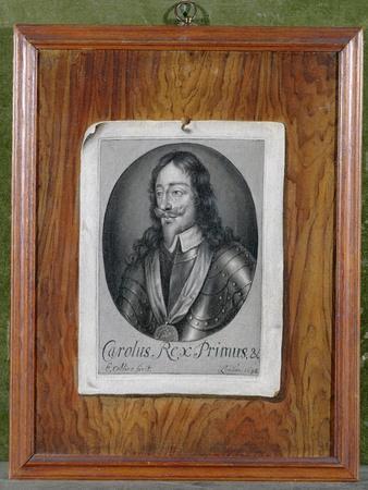 Trompe L'Oeil Still Life of a Print of Charles I